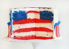 flag cake holiday, blue, cakes, fourth of july, food, juli cake, 4th of july, parti, dessert