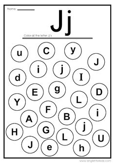 This post aggregates some printable worksheets, flashcards and coloring pages designed by me to teach letter J to young English learners. Letter D Worksheet, Letter Flashcards, Printable Alphabet Letters, Alphabet Phonics, Fun Worksheets For Kids, Letter Worksheets For Preschool, Preschool Letters, Alphabet Worksheets, Teaching Letters