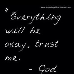 Trust. And obey