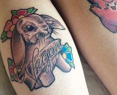 Grey Rabbit tattoo