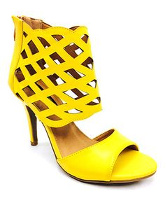 Look what I found on #zulily! Yellow Sasaly Sandal #zulilyfinds