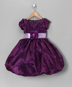 Take a look at this Kid Fashion Purple Rose Dress - Infant, Toddler & Girls by Kid Fashion on #zulily today!