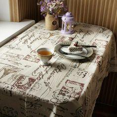 Tower Print Decorative Table Cloth Cotton Linen Lace #Kitchen_Decoration #Kitchen_Table_Decoration #Kitchen_Accessories