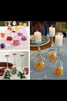 Simple decorations.   Sometimes beauty can be made the easiest of ways :)
