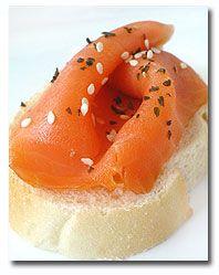 Australian Gumleaf Scented Smoked Salmon Brushetta