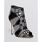 Sergio Rossi Open Toe Caged Sandals - Puzzle High Heel