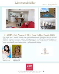 #condo #citybeautiful #coralgables #motivated #seller #offer @verajquesada @vivianserraltateam