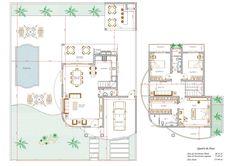Projeto de Sobrado de 3 quartos com 155,60m²
