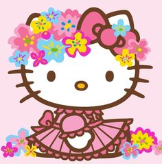 Hello Kitty in spring clothes