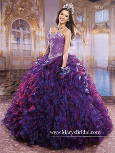 Mary's Bridal Princess Collection Quinceanera Dress Style 4Q826