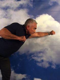 Cesar flying at #Facebook ! #Cesar911