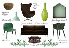 After eight moodboard | #moodboard #mint #chocolate #shopping #furniture #shoppinglist