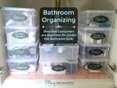 Don't Get Clean In A Messy Bathroom: How To Organize Your Bathroom {Week