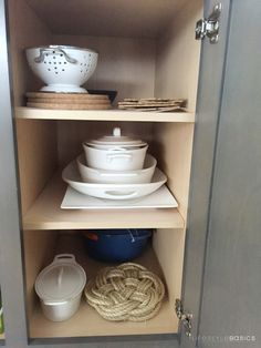 Am I the only one that loves opening my cupboards and find all my plates and serving dishes like this? (I don't think so). Makes me smile!  #LifestyleBasics #Lifestyle #Basics #LifestyleBlogger #Blogger #CleverTips #Tips #Organizer #Organizing #Tidying #Nifty #Hostess #SpaceSaver #Kitchen #Dreamy #Perfection