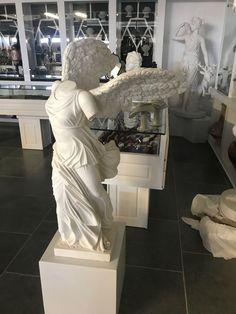 Nike of Samothrace, Greek white marble statue, sculpture, Greek antiquity, replica, museum of Louvre Paris France - Hellas Art by SiloArtFactory Greek Antiquity, Recycled Art, Ancient Greece, White Marble, Paris France, Sculptures, Louvre, Museum, Statue