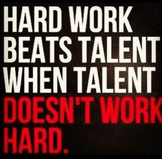 A friend once said success (he was saying in playing an instrument) is 10% talent and 90% hard work.