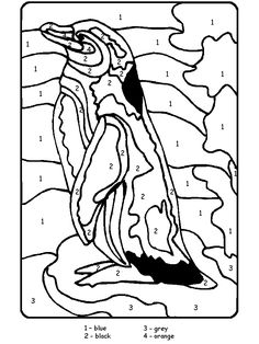 Winter Animals Coloring Pages | penguins themed coloring book pages