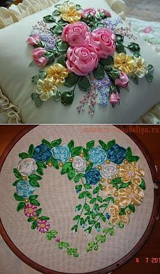 Practical lesson for embroidery ribbons from Irina Lysenko ..
