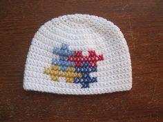 Crochet Autism Awareness Hat