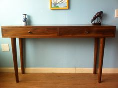 Solid Walnut Console Table by STORnewyork on Etsy