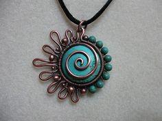 wire jewelry, idea, craft, bead, wire wrap, wire jewelri, pendant, necklac, sun