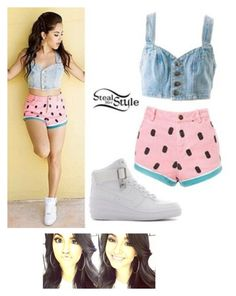 """Becky G. Steal her Style"" by glory4you ❤ liked on Polyvore"