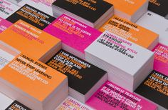 RE Identity. colorful business cards