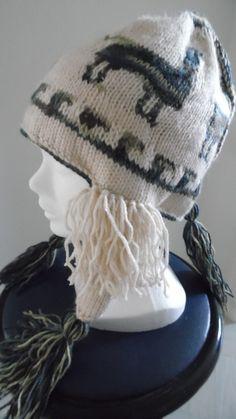 Bonnet péruvien aux 4 lamas en acrylique, pour enfants : Mode garçons par annbcreation