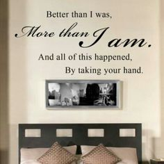 Above bed...