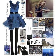 Clemence in Chanel, created by misslenny on Polyvore