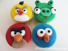 Angry Bird cupcakes....