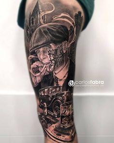 Tattoo artist Carlos Fabra, black and grey author& realistic tattoo Best Leg Tattoos, Hand Tattoos For Guys, Best Sleeve Tattoos, Badass Tattoos, Tattoo Sleeve Designs, Black Tattoos, Lion Tattoo Sleeves, Mob Tattoo, Tattoo Mafia