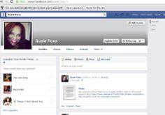 Susie Foxx Facebook profile Page @ https://www.facebook.com/susie.foxx.1