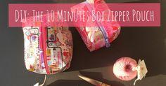DIY: The 10 Minutes Box Zipper Pouch | Petit Bout de Chou