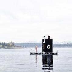 WA Sauna by goCstudio floats on Seattle's Lake Union