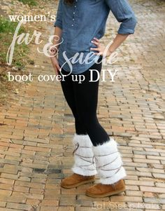 DIY: Women's Fur & Suede Boot Cover Up    The Sewing Rabbit