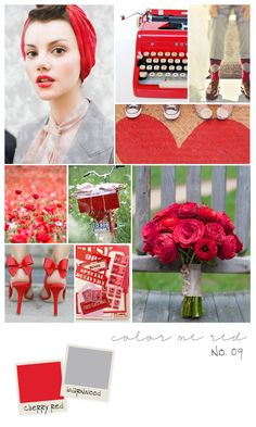 Color Me Red Inspiration Board