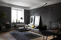 szare + białe ściany