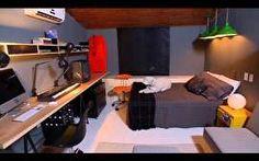 Bel Lobo enfrenta o caos de um quarto todo bagunçado e o transforma em um organizado quarto masculino.