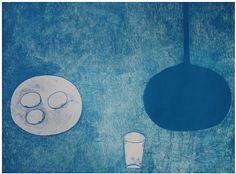 William Scott, Blue Still Life