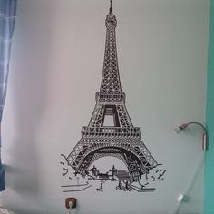 wall painting: Eiffel tover