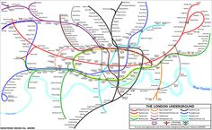 Curvy Tube Map by Maxwell Roberts by Annie Mole London Underground Tube Map, London Tube Map, Underground Cities, London Map, Old London, Harry Beck, Metro Map, Mind The Gap, London Transport