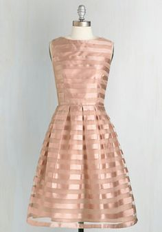 Dinner and Romancing Dress in Blush; I know this is a short dress but the color and the sheen is perfecttttttt