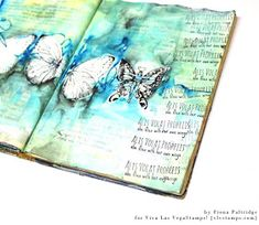 Viva Las VegaStamps!: Watercolor Background and Stamping Journal Page with Fiona