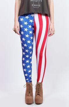 Americana Leggings - shop leggings online at Beginning Boutique