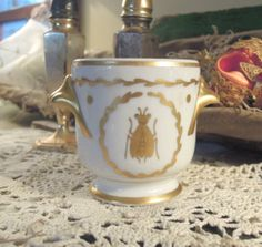 Vintage Porcelain French Limoges Pot / Napoleon by AloofNewfWhimsy, $20.00