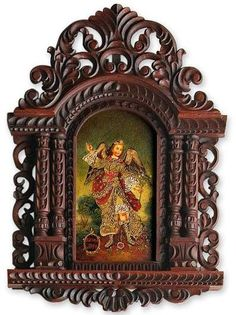 Altar on pinterest home altar altars and catholic for Altar wall decoration