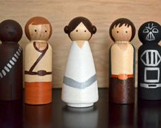 The Princess Bride Inspired Peg Dolls Peg Toys by ThePaintedPeg