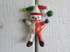Wood Clown Ornament, Old Clown Ornament, Vintage Holiday Ornaments, Holiday Ornaments, Ornaments, Christmas Items, Vintage Christmas by OpenTwentyFourSeven on Etsy