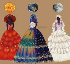 Could be cool as queens of the sun moon and earth hosting a party for all humans.